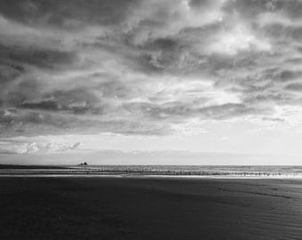 Beach Photography, Fine Art Photography, Pacific Coast, Walk on the Beach, Black and White, Nature, Landscape, Wall Art, Home Decor