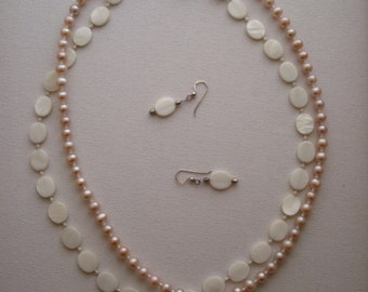 Pearls & Sterling Silver Necklace