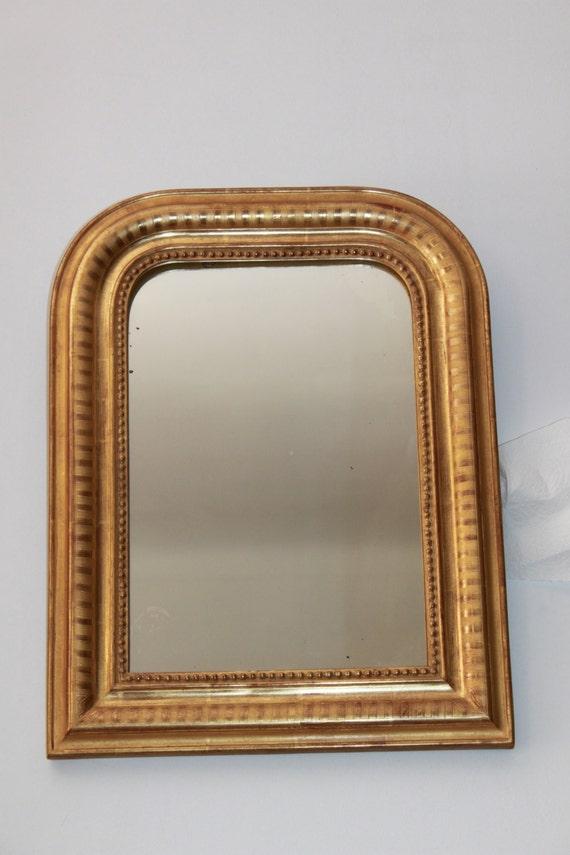 Vintage miroir ancien dor louis philippe or fin for Miroir louis philippe