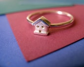 Sterling Silver Stacking Ring Teeny House