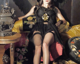 SALE Extravagant Circus Overbust Corset  dress Vreeland Collection