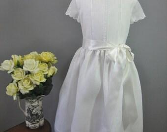 Handmade Irish Linen First Communion Dress - Sophie