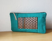 Woven Leather Clutch // Large