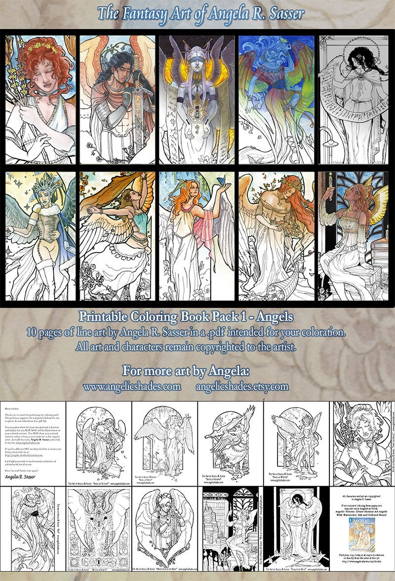 Coloring book pages angels -  Angels Pages To Color Zoom