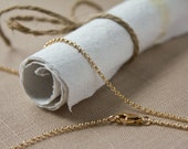 Thin Gold Rolo Chain Necklace Gold Filled Pendant Chain 1.5mm thick with Lobster Clasp 14 15 16 18 20 22 24 26 28 30 32 34 36 38 40 any inch