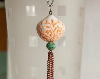 Sea breeze - chic long length tassel necklace