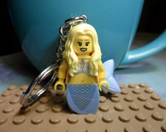 Blond Mermaid Keychain or Ornament YOU PICK