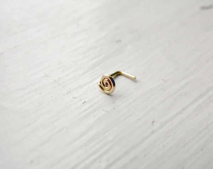 Spiral Nose Stud 14k Gold Fill