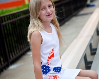Ready to Ship, University of Florida Gators Orange and Blue Flower Game Day Tank Dress Monogrammed Dress Size 6