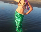 Children's Mermaid Costume with Sea Shell Top
