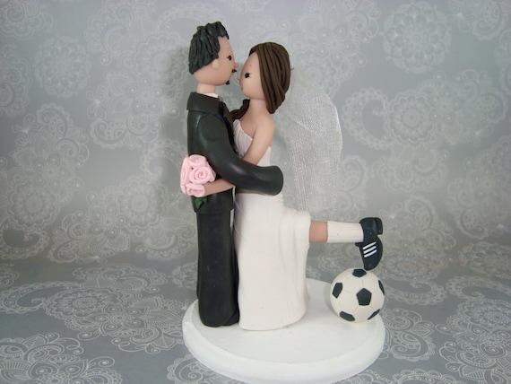 Wedding Cake Topper Soccer Customized Bride Groom Fans Theme