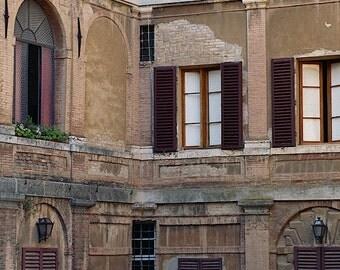 Siena Italy Art, Italian Photography, Rustic Wall Decor, Tuscany Italy Print, Courtyard, Italian Art,Italian Print,Europe Travel Photography