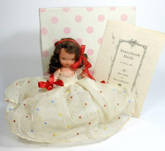 1940 s vintage doll nancy ann storybook bisque pink polka dot box