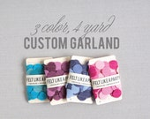 Custom Garland // Felt Circles // 4 Yards