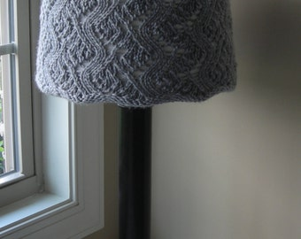 Lampshade Cover Knitting Pattern - Crazy Lace Knit for Target or Lowes Shades in two sizes - lighting lamp living room bedroom