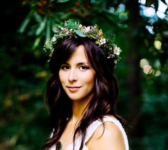 Bridal Greek Goddess Flower crown headpiece by Michele ...
