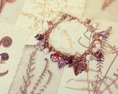 Fairy tale Charm Bracelet, FAERIE GLADE, Botanical Beaded Jewelry, FREE Aust Shipping