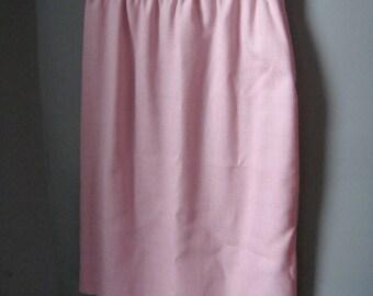 Vintage Leslie Fay Pencil Skirt in Soft Pink, Crosshatch, Knit Skirt, Pale Pink, Work Skirt, Size 8, Size M, Medium