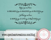Before You Were Born We Dreamed of You Wall Decal - Baby Nursery Girl Boy Poem Quote Saying 22h x 36w BA0419