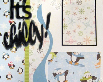 Scrapbooking Layout Winter Snow Scrapbook Page Kit Premade