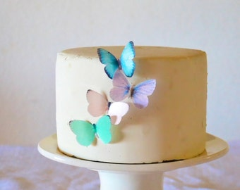 Small Assorted Pastel Edible Butterflies set of 24 - Edible Butterflies for Cakes and Cupcakes