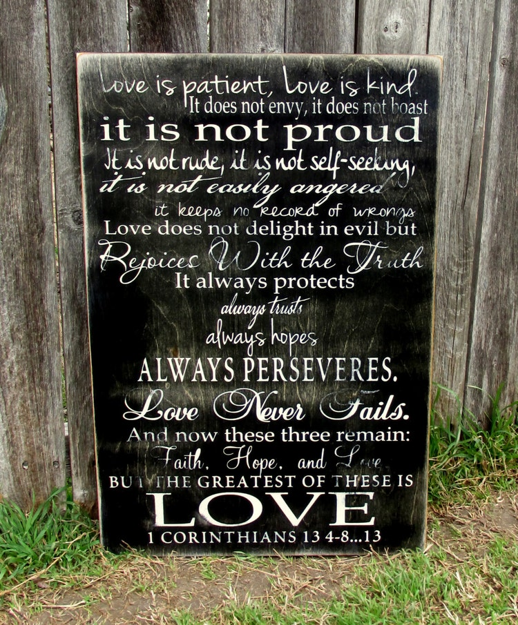 Love Is Patient Love Is Kind 1 Corinthians 13 By