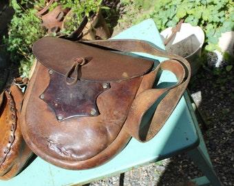 Leather Mail Bag Shoulder Purse VINTAGE by Plantdreaming