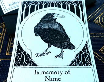 Booklabels Raven Black 25 Personalized Ex Libris Bookplates