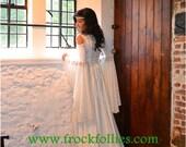 """Medieval Wedding Dress, Renaissance Gown, Elvish Wedding Dress, Robe Medievale, Pre-Raphaelite Dress, Handfasting Gown, Wedding Dress,""""Ella"""""""