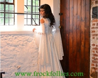 Medieval Wedding Dress, Renaissance Gown, Elvish Wedding Dress, Robe Medievale, Pre-Raphaelite Dress, Hand Fasting Gown, Medieval Gown, Ella