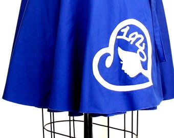 """Plus size Women 1920 Royal Blue Applique  / Women plus size high waist /(14 - 24 ) 25"""" L"""