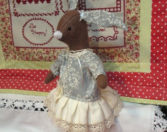 Maggie  Rabbit Vintage style bunny rabbit    Truly beautiful!   One of a kind!