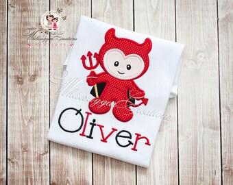 Halloween Little Devil Shirt - Custom Shirt - Kids Halloween Shirt - Holiday Shirt for Boys - Holiday Outfit - Baby First Halloween