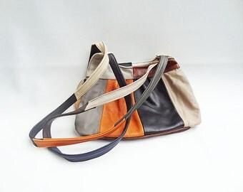 Bold Leather Patch Purse