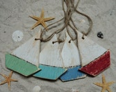 50 Wooden Sail Boat Ornaments, Beach Themed Decor, Wooden Gift Tags, Handcut