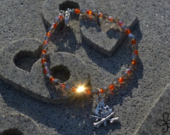 Smoky Fire Bracelet
