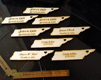 50 Tennessee State Wedding Favors Custom Engraved