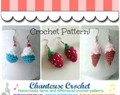 "Micro Amigurumi Crocheted Earrings PDF Pattern INSTANT DOWNLOAD ""Sweet Nothings"""
