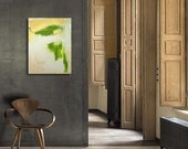 SALE - Original Abstract Painting - Contemporary Fine Art - Acrylic on Canvas 18 x 24 - textural - metallic gold - green - beige