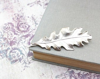 Silver Leaf Bobby Pin Oak Leaf Hair Accessories Silver Leaves Nature Bobby Pin Woodland Wedding Hair Clips Bridesmaids Gift Large Leaf