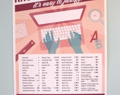"Adobe InDesign Mac Keyboard Shortcuts Printable Graphic Design Poster 13""x19"""