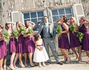 Purple Convertible Bridesmaid Dress