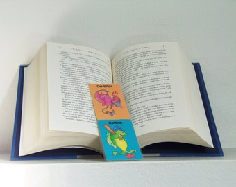 Devilfish and Batfish Bookmark - Fish Bookmark - Trading card Bookmark - Laminated Bookmark - Fish - Batfish - Devilfish
