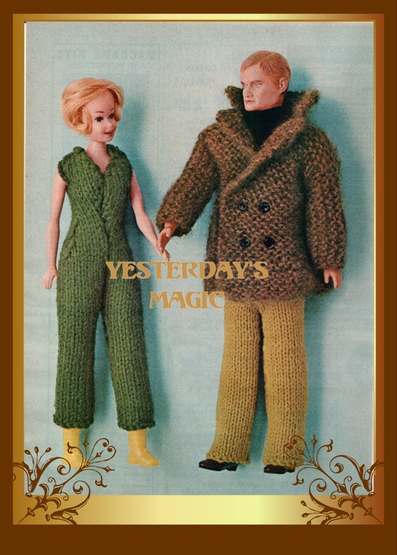 Free Knitting Patterns For Ken Doll Clothes : Instant Download PDF Vintage Sixties Easy by YesterdaysMagic