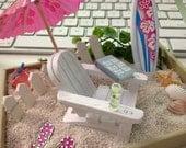 Create Your Own Beach / Tropical Fairy Garden / Custom Miniature Desktop Terrarium / Dollscale Summer Zen Garden Office Vacation OOAK