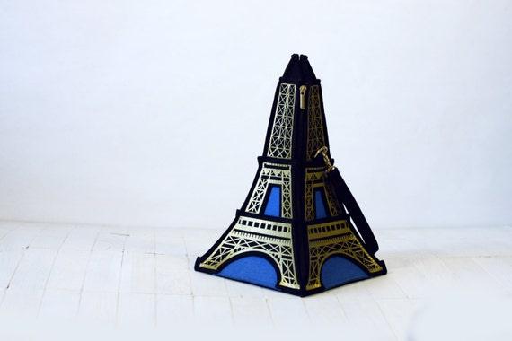Eiffel Tower Bag Felt Eiffel Tower Purse