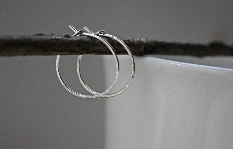 small hammered hoops silver hoop earrings hammered hoop. Black Bedroom Furniture Sets. Home Design Ideas
