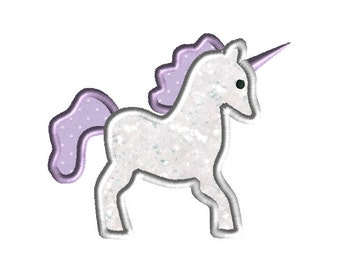 Unicorn Applique Design for Machine Embroidery-INSTANT DOWNLOAD