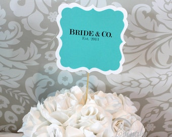 Custom Signs Additions to Any Centerpiece - 6 Piece Set