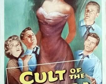 Cult of the Cobra. 1955 Oiginal 1955 Movie Theater Poster. Faith Domergue. Richard Long. David Janssen. Kathleen Hughes. Horror Movie